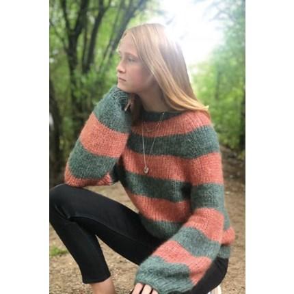 4db7e9ad Alice opskrift nr. 896246 Raglansweater i striber